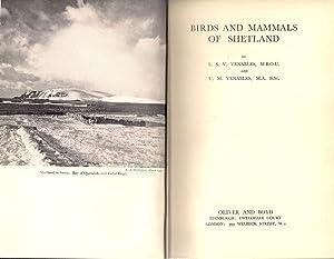 Birds and Mammals of Shetland: Venables, L.S.V.