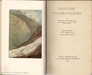 English Water-Colours: Binyon, Laurence