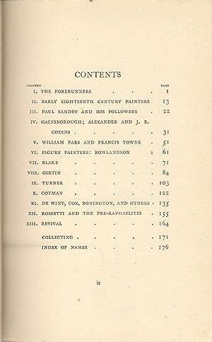 English Water-Colours: Binyon, Laurence