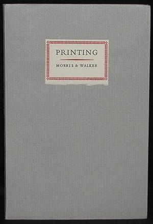 PRINTING: Emery Walker and William Morris