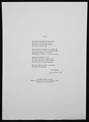 Broadside Poem] ORFEO