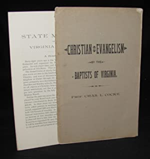 CHRISTIAN EVANGELISM BY THE BAPTISTS OF VIRGINIA; AN ADDRESS . BEFORE THE BAPTIST GENERAL ASSOCIA...