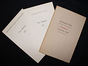 Grabhorn Press | David Magee's Copy] THE ROSTERS: ZAMORANO CLUB, LOS ANGELES & ROXBURGHE CLUB OF ...
