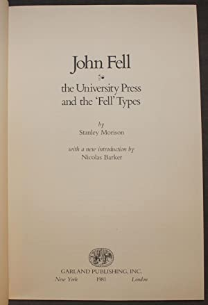 JOHN FELL: THE UNIVERSITY PRESS AND THE 'FELL' TYPES