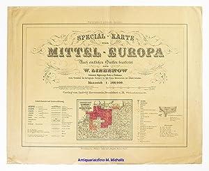 Special-Karte von Mittel-Europa Nach amtlichen Quellen bearbeitet. Maasstab 1 : 300.000. ...