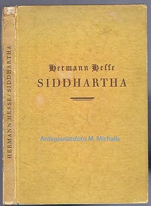 Siddhartha. Eine indische Dichtung. (First Edition).: Hesse, Hermann