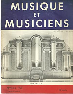 MUSIQUE ET MUSICIENS. Lot de 6 numeros.: GADBOIS, Charles-Emile