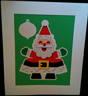 ORIGINAL CHILDREN'S BOOK COVER ART Circa 1960's ? LAUGHING SANTA CLAUS.
