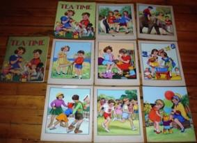 ORIGINAL CHILDREN'S BOOK ART, Set of 9 ORIGINAL PAINTINGS for