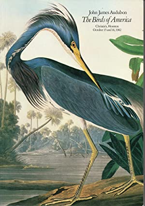 John James Audubon: The Birds Of America (Christie's, Houston - October 15 and 16, 1982)