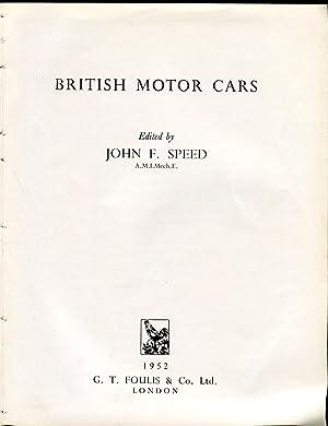 British Motor Cars: Speed, John F.