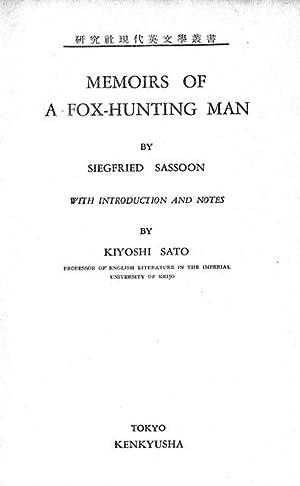 Memoirs of a Fox-Hunting Man: Siegfried Sassoon