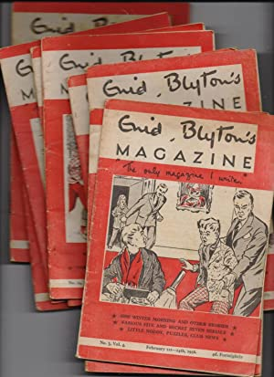 """Enid Blyton's Magazine """"the only magazine I write"""" Vol.4 nos 3, 4, 5, 10, 14, 18,20, 24..."""