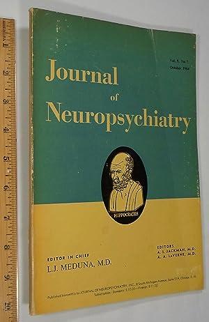Journal of Neuropsychiatry, Vol 5 No 7,: L.J. Meduna, MD;