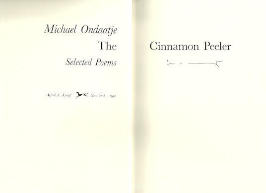 michael ondaatje the cinnamon peeler