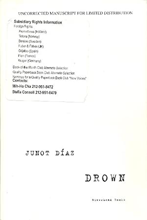 drown by junot diaz signed abebooks