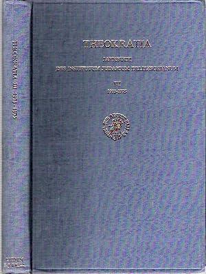 Theokratia : Jahrbuch des Institutum Judaicum Delitzschianum III : 1973-1975 : Festgabe Für ...