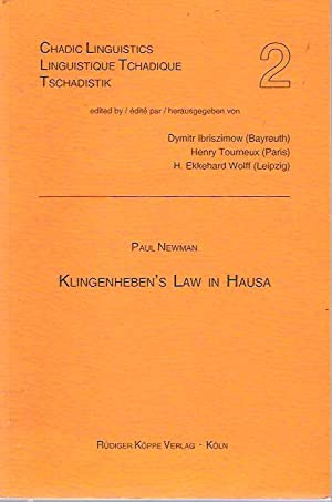 Klingenheben's Law in Hausa: Newman, Paul