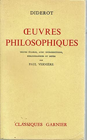 Oeuvres Philosophiques [ uvres]: Diderot, Denis; textes