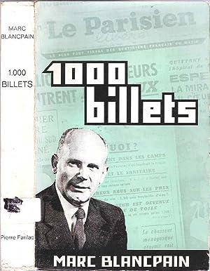 1000 Billets du Parisien: Blancpain, Marc; préface de Claude Bellanger
