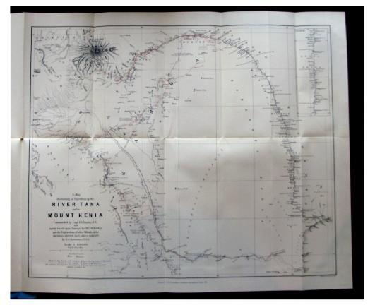 A Recent Exploration, Under Captain F. G. Dundas, Up the River Tana to Mount Kenia. GEDGE, Ernest.