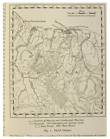 Dutch Guiana Map on
