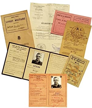 Military Archive - Service Papers & Identification Cards of Belgium POW Held Captive By the Germans.