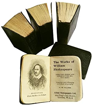 The Works of William Shakespeare - 40 Volume Miniature Edition Set with Custom Bookshelf