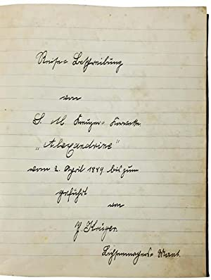 Manuscript Journal of South Pacific Voyages, Detailing: Th. Krüger, Officer