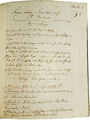 Journal of Manuscript Medical Notes in German, titled: