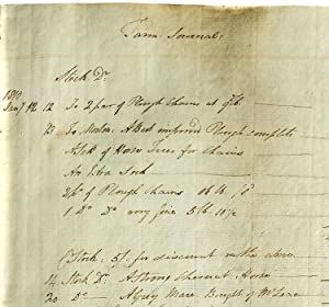 Manuscript Accounts Ledger Kept by Scottish Farmer Daniel Collyer, Concerning a Sizeable Historic...