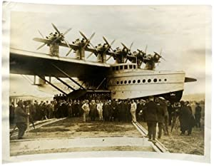 Five Original Press Photographs of the German Dornier Do X Flying Boats, October 1929 - November ...