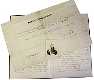Original Manuscript Account of the Austrian Military Campaign in Mexico - WITH Document Signed Un...