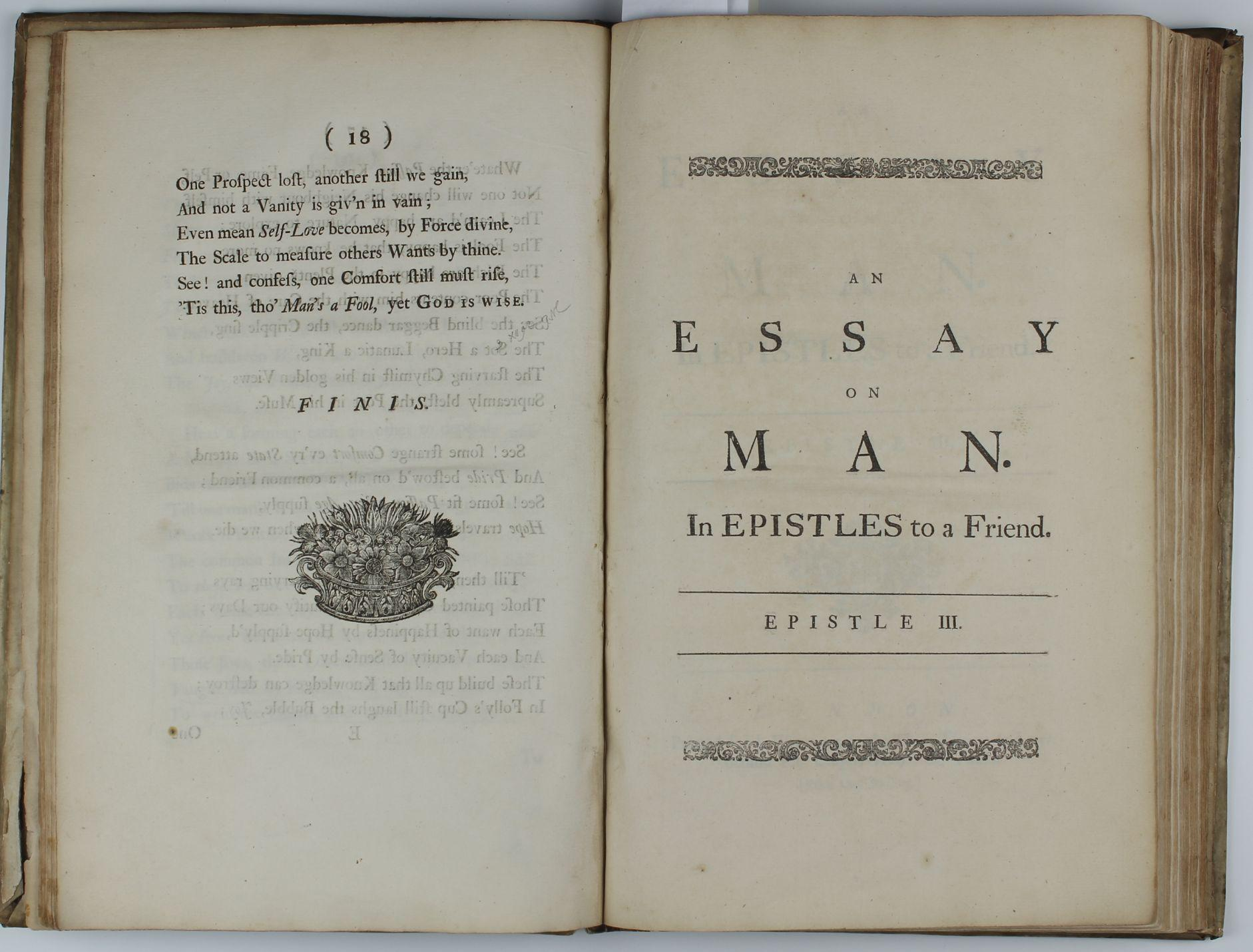 An essay on man epistle 1