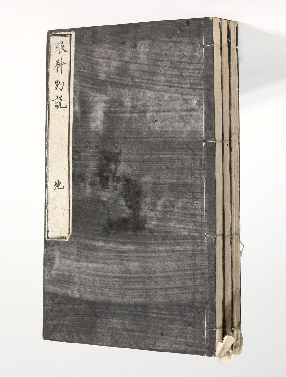 Charming OSANAI, Genu0027yo · Ganka Yakusetsu [Summary Of Ophthalmology]. Tokyo 1878   3  Volumes. Tokio, Meiji 11 (1878). (227 X 148 Mm).
