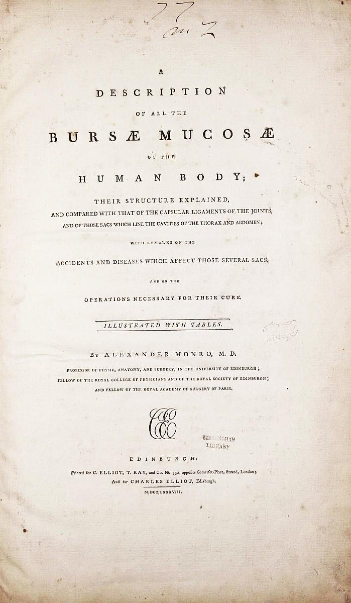 A Description of all the Bursae Mucosae of the Human Body, their ...