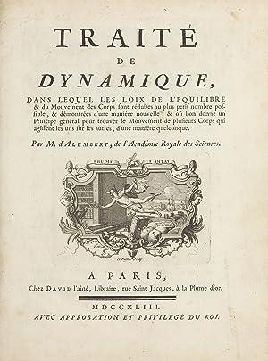 Traité de dynamique, dans lequel les lois: ALEMBERT, Jean le