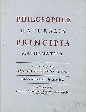 Philosophiae naturalis principia mathematica. Editio tertia aucta: NEWTON, Isaac