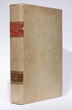Habentur hoc volumine haec Theodoro Gaza interprete.: ARISTOTELES [ARISTOTLE, Theodore