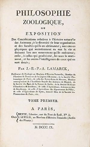 Philosophie Zoologique, ou Exposition des Considérations Relatives: LAMARCK, Jean Baptiste