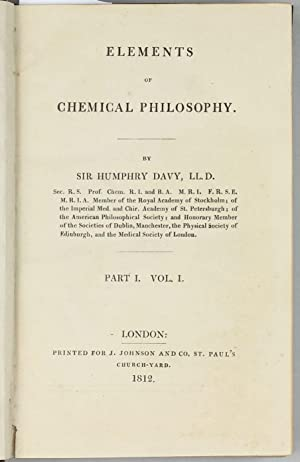 Elements of Chemical Philosophy, Part I. Vol. I (all published).