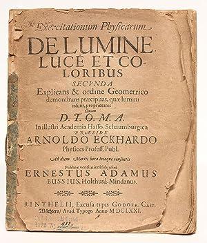 Exercitationum Physicarum De Lumine, Luce Et Coloribus: ECKHARD, Arnold &