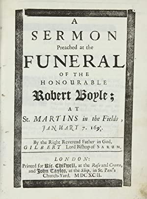 A Sermon Preached at the Funeral of: BURNET, Gilbert