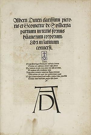 De Symmetria partium in rectis formis humanorum: DÜRER, Albrecht