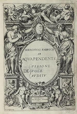 De visione voce auditu.: FABRICI, Girolamo (FABRICIUS