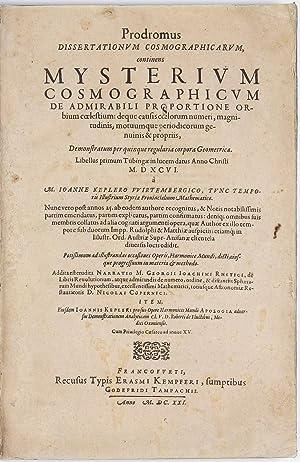 Prodromus Dissertationum Cosmographicarum continens Mysterium Cosmographicum de: KEPLER, Johannes