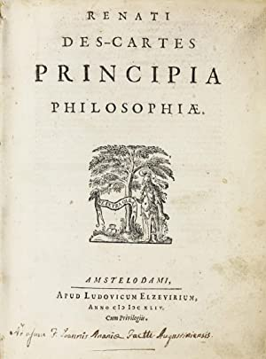 Principia philosophiae / Specimina philosophiae: seu Dissertatio: DESCARTES, Rene