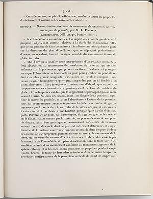 Demonstration physique du movement de rotation de la terre au moyen du pendule: FOUCAULT, Jean ...