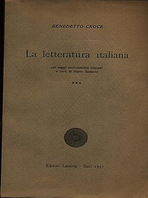 La letteratura italiana ***: Croce, Benedetto