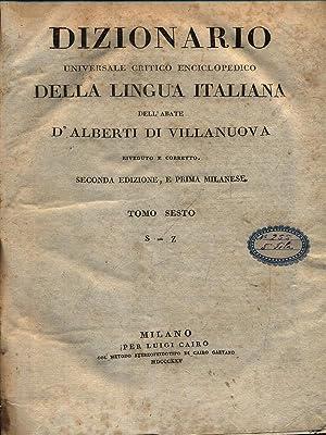 Dizionario universale della lingua italiana 6vv: D'Alberti di Villanuova